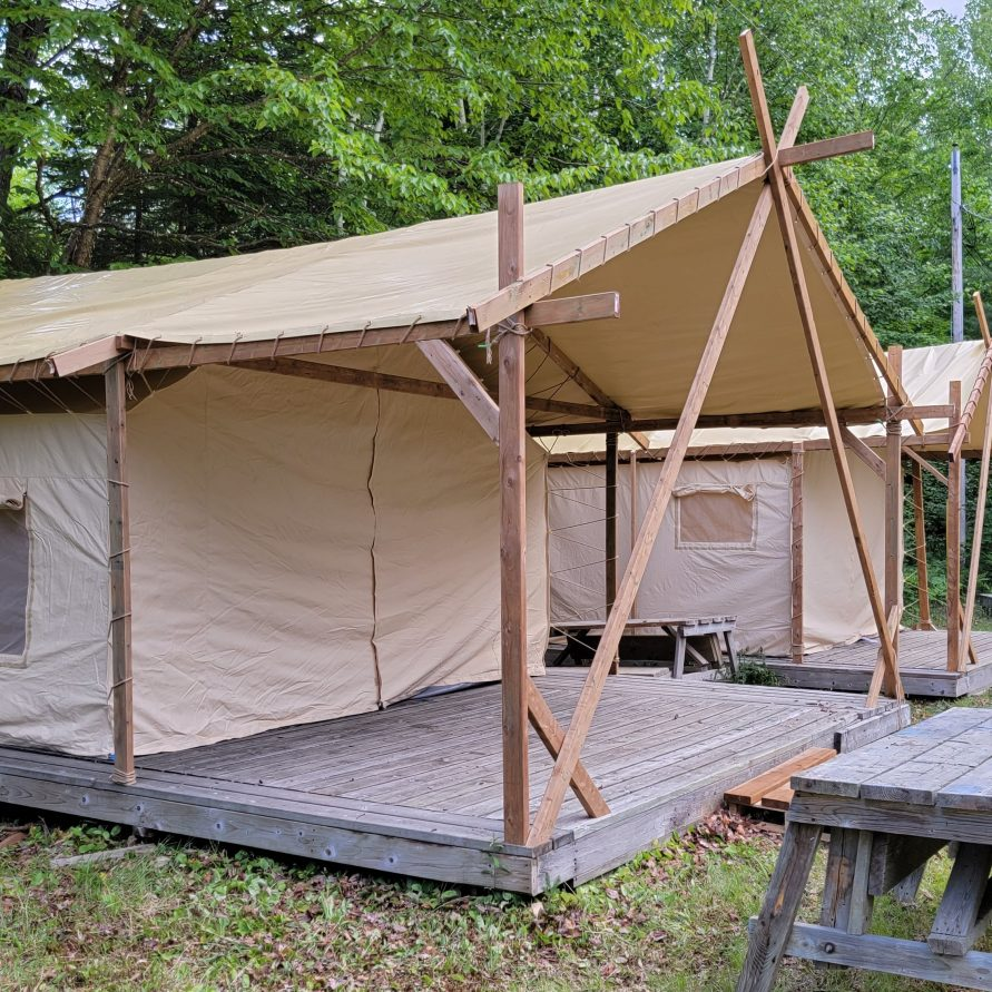 large hotel style tent